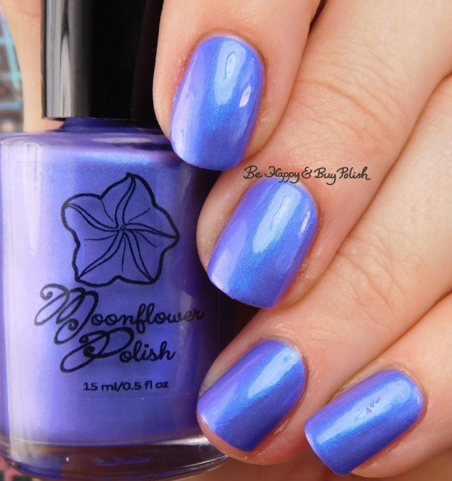 Moonflower Polish Fluorite Glow Blurple-Winkle Polish Lovers June 2018 | Be Happy And Buy Polish