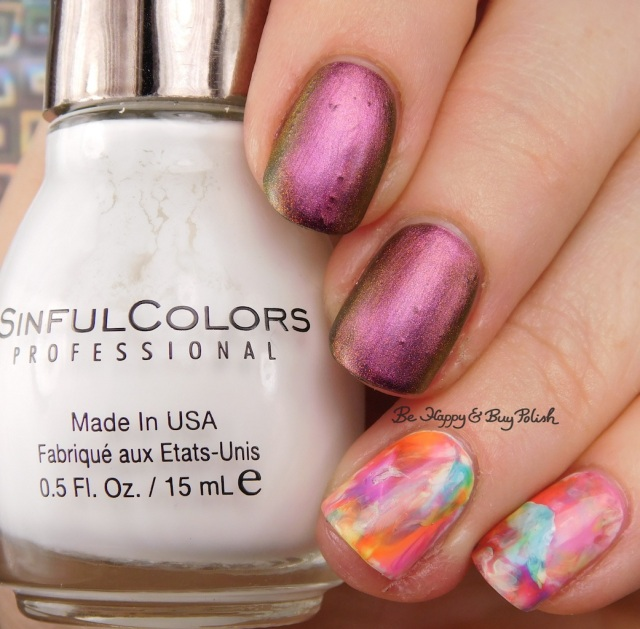 Neon nail art decals with Sinful Colors, KBShimmer Just a Phase, Baroness X Fire Opal | Be Happy And Buy Polish
