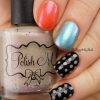 Mix and match dotticure nail art with Cult Nails, Polish 'M, Dreamland Lacquer, Formula X
