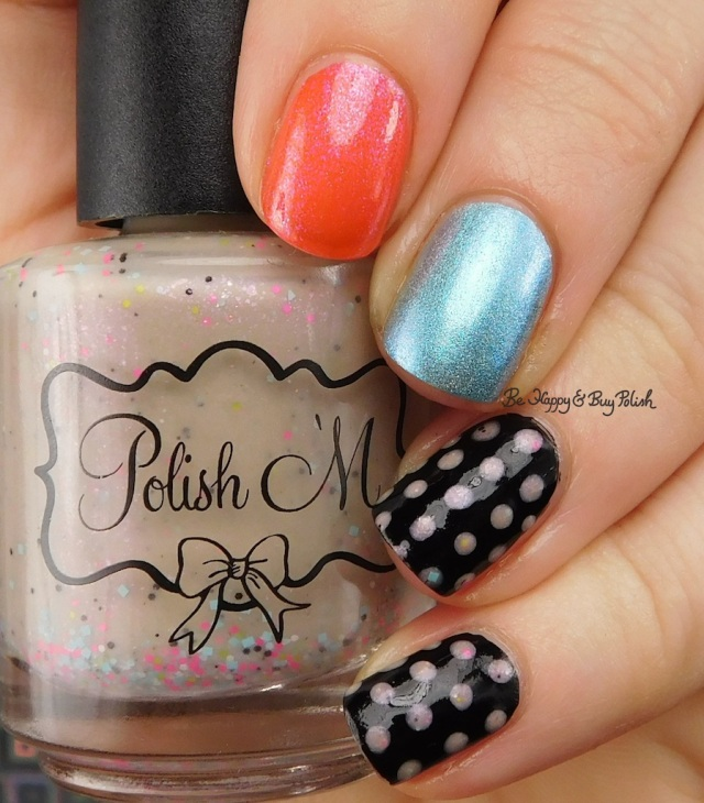 Polish 'M Corpses of Cheer, Dreamland Lacquer Aurora Fourealis, Formula X Danger Zone dotticure | Be Happy And Buy Polish