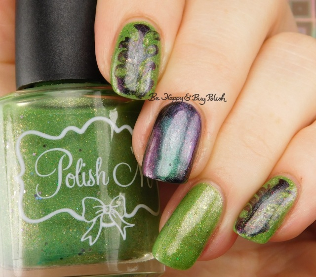 Polish 'M Where My Witches At?, Polished For Days Vitae swirly magnetic manicure | Be Happy And Buy Polish