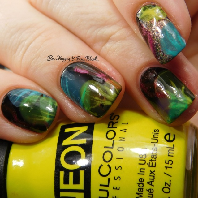 Sinful Colors Out in Space, B Squared Lacquer Plur, Tonic Polish Caliente, Sinful Colors Diamond Blogs, China Glaze Liquid Leather veiled nails | Be Happy And Buy Polish