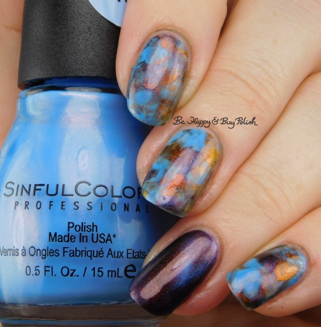 Sinful Colors Rave New World, Shleee Polish Nightmarish, KBShimmer Solar Flair smooshy magnetic manicure | Be Happy And Buy Polish
