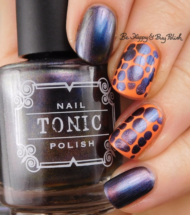 Tonic Polish Diva Royale, Jessica Cosmetics Monsoon Melon blobbicure nail art | Be Happy And Buy Polish
