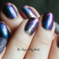 Magnetic skittlette manicure with Tonic Polish, Formula X, Blackheart Beauty