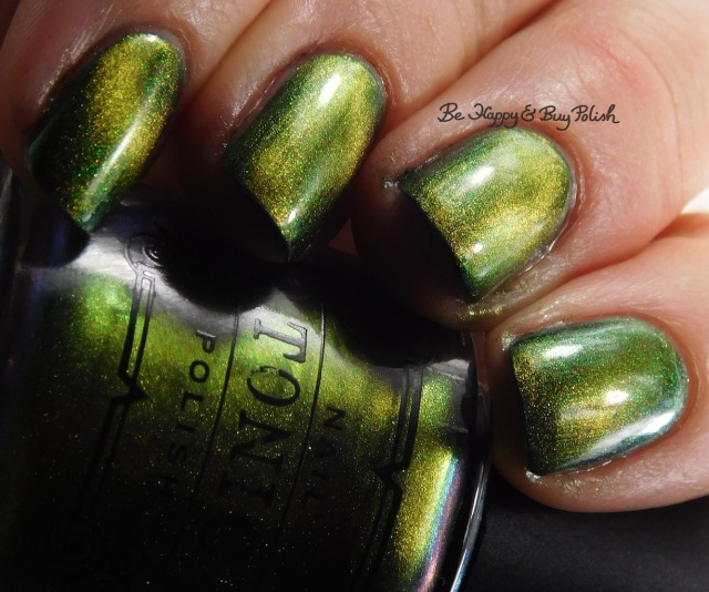 Tonic Polish Flawless over ILNP High Tide close up | Be Happy And Buy Polish
