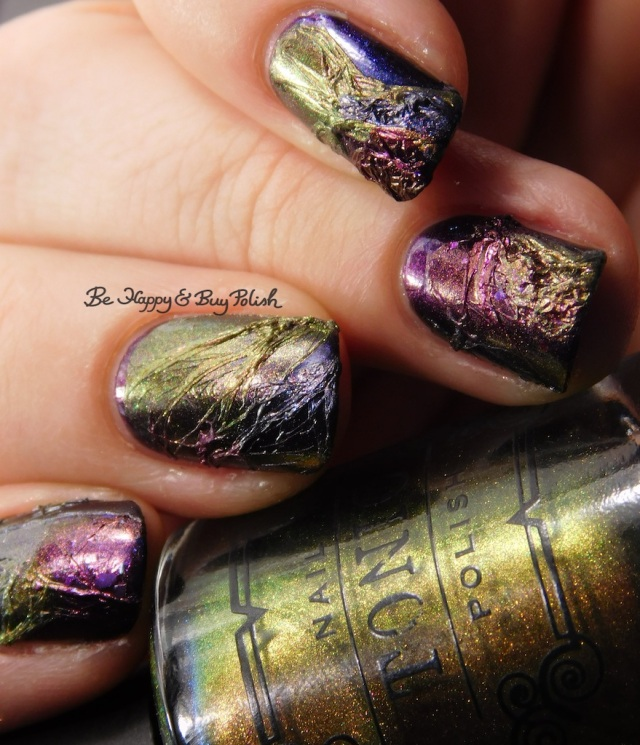 Tonic Polish Zeppo, Flawless, Diva Royale, Dorothy 2017 veil nail art no magnet applied close up | Be Happy And Buy Polish