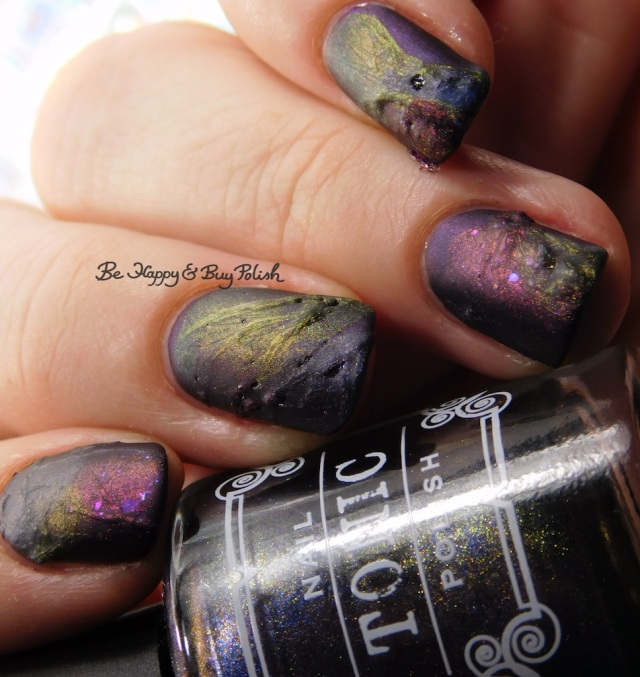 Tonic Polish Zeppo, Flawless, Diva Royale, Dorothy 2017 veil nail art with matte top coat close up | Be Happy And Buy Polish