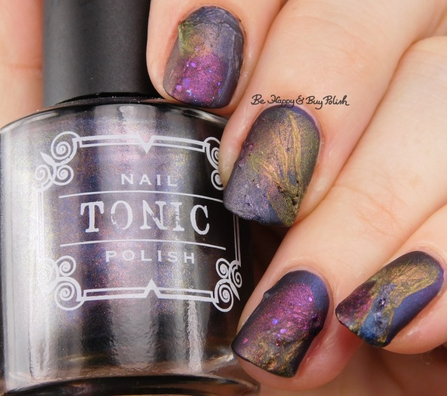 Tonic Polish Zeppo, Flawless, Diva Royale, Dorothy 2017 veil nail art with matte top coat | Be Happy And Buy Polish