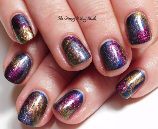 veil nail art with Tonic Polish Zeppo, Flawless, Diva Royale, Dorothy 2017 | Be Happy And Buy Polish