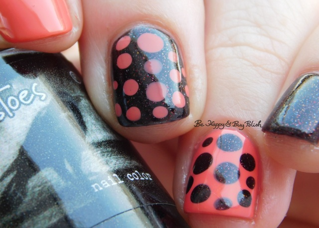 CrowsToes Nail Color Tell Me About It STUD, L.A. Colors Bright Tangerine blobbicure | Be Happy And Buy Polish