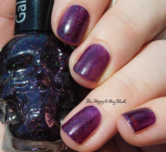 Hot Topic Blackheart Beauty Dark Purple Galaxy holographic | Be Happy And Buy Polish