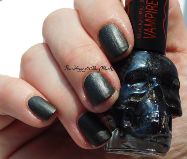 Hot Topic Blackheart Beauty Vampire Matte Black Vamp Satin Matte in sunshine | Be Happy And Buy Polish