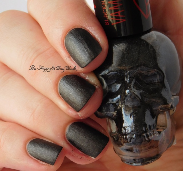 Hot Topic Blackheart Beauty Vampire Matte Black Vamp Satin Matte | Be Happy And Buy Polish