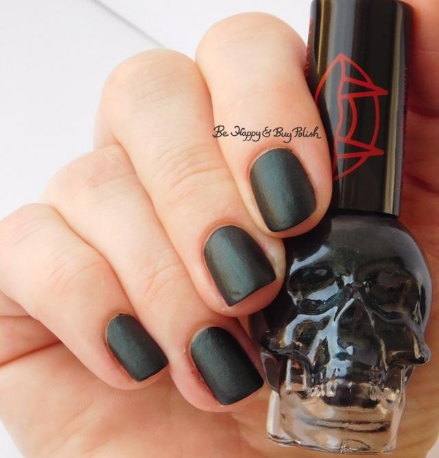 Hot Topic Blackheart Beauty Vampire Matte Green Vamp Satin Matte | Be Happy And Buy Polish