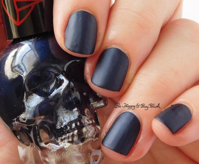 Hot Topic Blackheart Beauty Vampire Matte Navy Vamp Satin Matte | Be Happy And Buy Polish