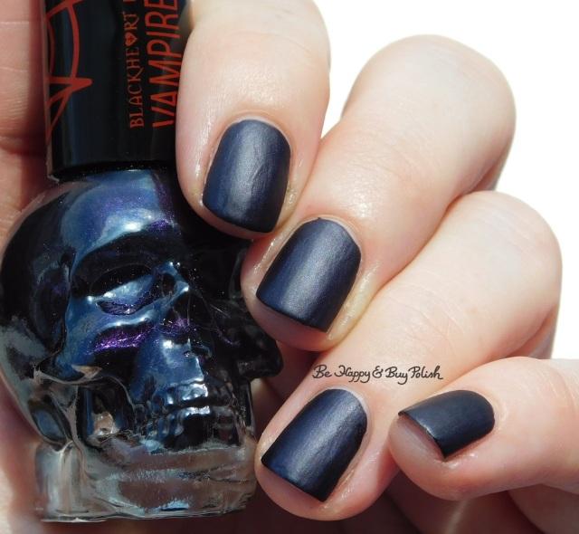 Hot Topic Blackheart Beauty Vampire Matte Purple Vamp Satin Matte in sunshine | Be Happy And Buy Polish