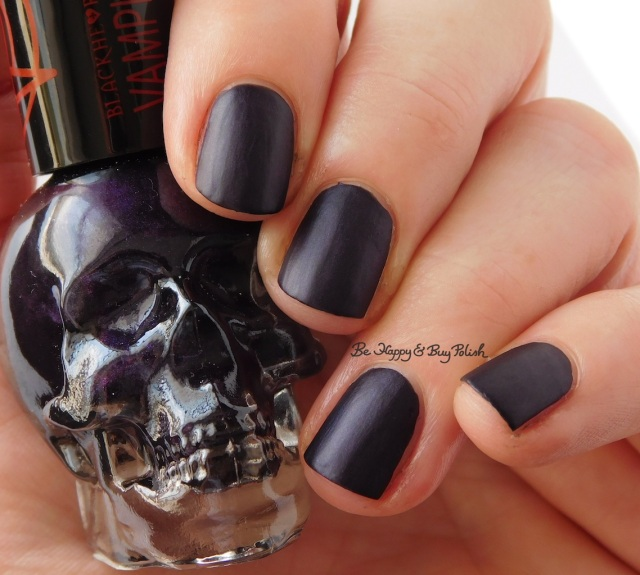 Hot Topic Blackheart Beauty Vampire Matte Purple Vamp Satin Matte | Be Happy And Buy Polish
