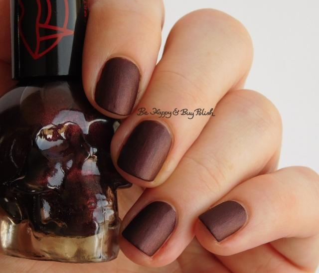 Hot Topic Blackheart Beauty Vampire Matte Red Vamp Satin Matte | Be Happy And Buy Polish