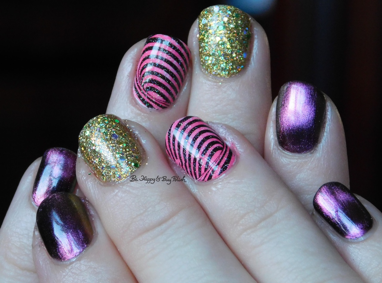 Magnetic skittlette nails with KBShimmer polishes | Be Happy and Buy ...