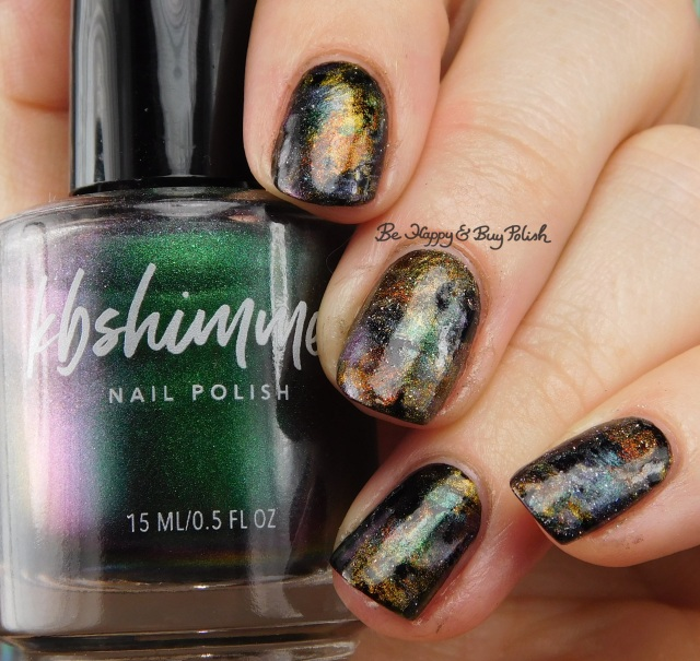 KBShimmer You Rocket My World, A Star is Formed, Spaced Out, Solar Flair, Thrust Issues oil slick nail art manicure | Be Happy And Buy Polish