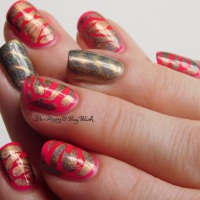 Neon magnetic animal print manicure with Tonic Polish and L.A. Colors