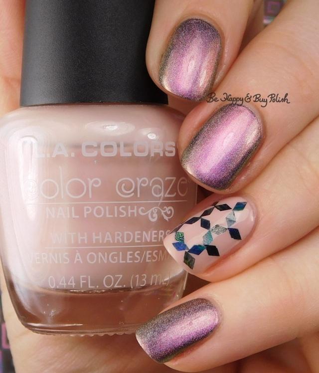 LA Colors Color Craze Wanderlust, Tonic Polish Divine glitter placement nail art | Be Happy And Buy Polish