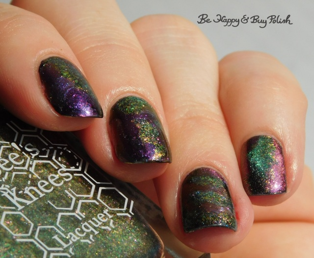 Bee's Knees Lacquer The Band of Exiles, Shleee Polish Psychedelic, Tonic Polish Jubilee, magnetic patchwork manicure nail art | Be Happy And Buy Polish