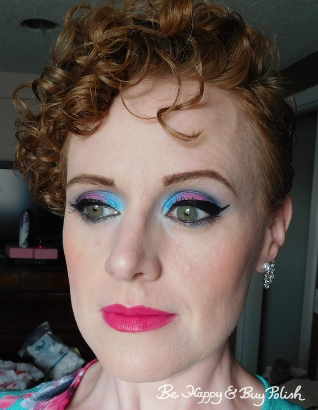 blue eyeshadow look for green eyes with Urban Decay, Hot Topic, L.A. Colors | Be Happy And Buy Polish