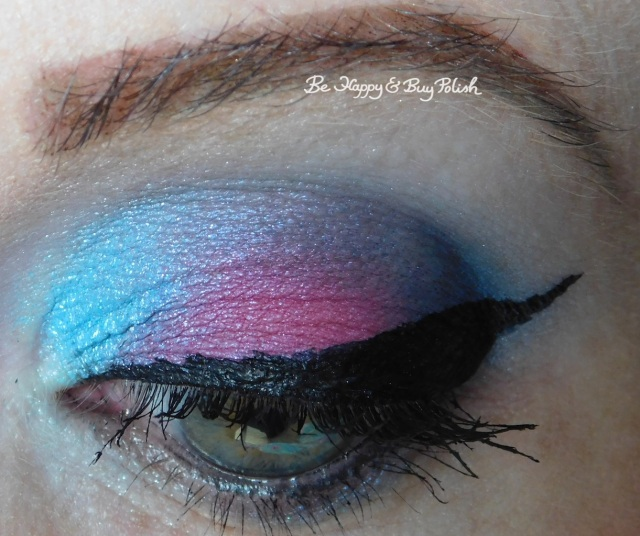 eyeshadow look with Her Universe Space, L.A. Colors Smokin' palette, Urban Decay Cake | Be Happy And Buy Polish