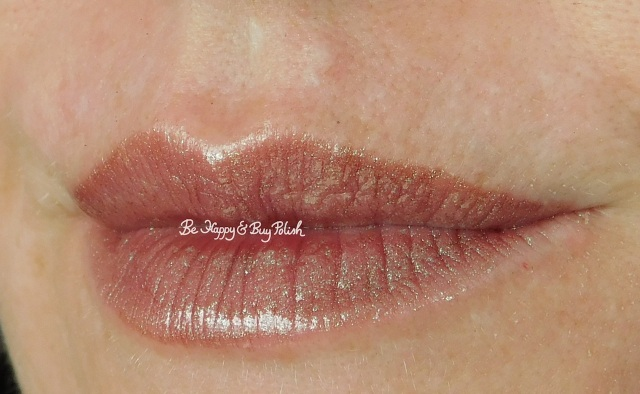 Lottie London Holo Duo Chrome Lip Lacquer in Shade lip swatch | Be Happy And Buy Polish