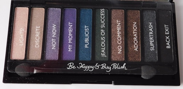 Makeup Revolution London No Photos Please eyeshadow palette pan with names | Be Happy And Buy Polish