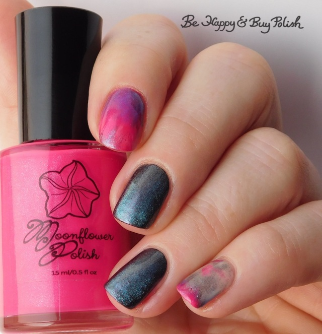 Moonflower Polish Sprinkles, Shleee Polish Ghost Bird, L.A. Colors Swiss Coffee, Sinful Colors Shimmy Shimmy   Be Happy And Buy Polish