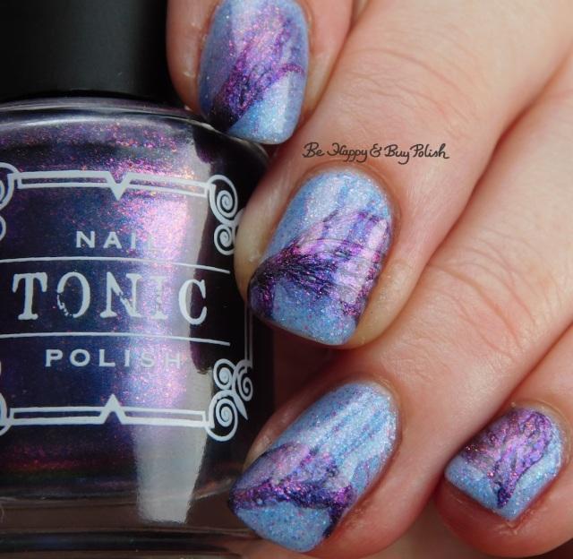 Tonic Polish Hush, Polish 'M Cold Hands Warm Heart veil nail art | Be Happy And Buy Polish