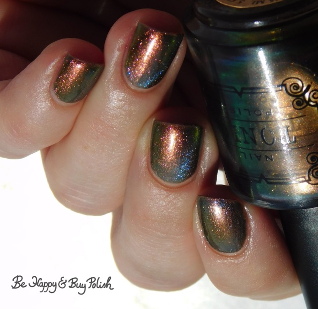 Tonic Polish Lips magnetic nail polish over Blackheart Beauty Matte Nude | Be Happy And Buy Polish