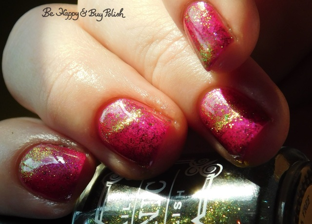 Tonic Polish Stardust over Hot To Trot sunshine | Be Happy And Buy Polish
