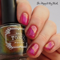 Tonic Polish Hot to Trot + Stardust swatch + review