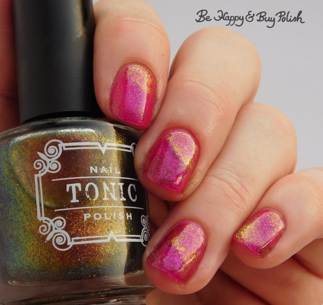 Tonic Polish Stardust over Hot To Trot | Be Happy And Buy Polish