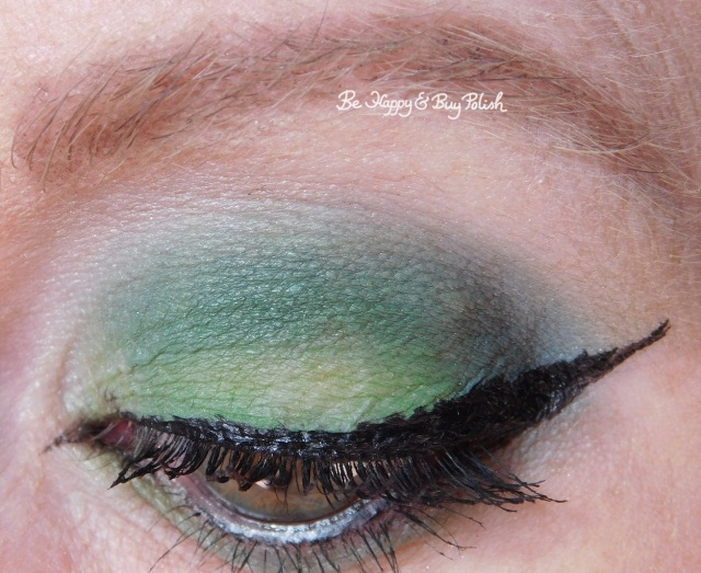 eye makeup with Bio-Exorcist, Betelgeuse, Afterlife from Hot Topic Handbook for the Recently Deceased eyeshadow palette closeup | Be Happy And Buy Polish