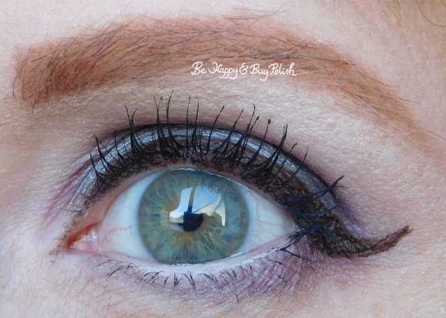 eye makeup with Darkroom, It's Showtime, Sandworm, Strange and Unusual from Hot Topic Handbook for the Recently Deceased eyeshadow palette   Be Happy And Buy Polish