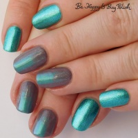 Gradient stripe manicure with L.A. Colors and Tonic Polish