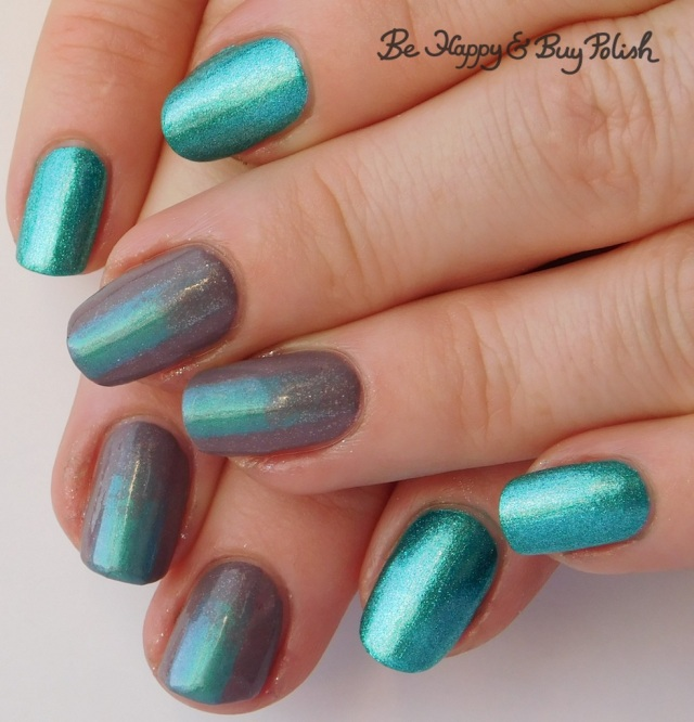 gradient stripe manicure with Tonic Polish and L.A. Colors | Be Happy And Buy Polish