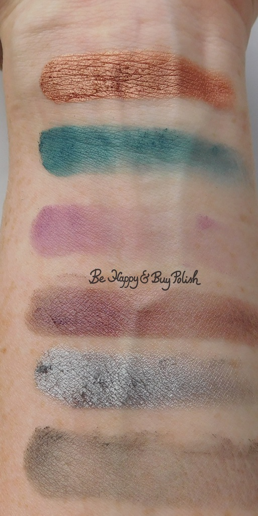 Hot Topic Handbook for the Recently Deceased eyeshadow palette swatches | Be Happy And Buy Polish