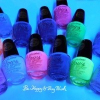 L.A. Colors Glows Color Craze nail polish collection (bottle photos)