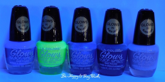 L.A. Colors Glows nail polishes Ultraviolet, Radiation, Wave Length, X-Ray, Vapor blacklight | Be Happy And Buy Polish