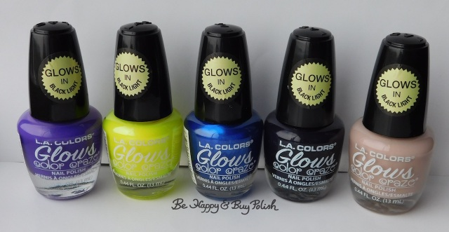 L.A. Colors Glows nail polishes Ultraviolet, Radiation, Wave Length, X-Ray, Vapor | Be Happy And Buy Polish