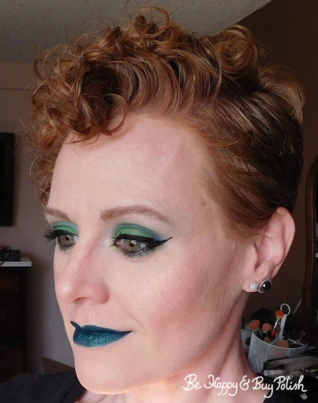 makeup with Hot Topic Handbook for the Recently Deceased and Wet N Wild Liquid Catsuit Emerald Envy   Be Happy And Buy Polish