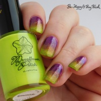Neon and Magnetic double gradient manicure with Moonflower Polish and Tonic Polish
