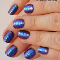 Multichrome Iridescent Placement Glitter with Tonic Polish and Blackheart Beauty
