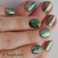 Oil slick nail art manicure with P.O.P Polish Pastel Oil Slicks 360 nail polish collection
